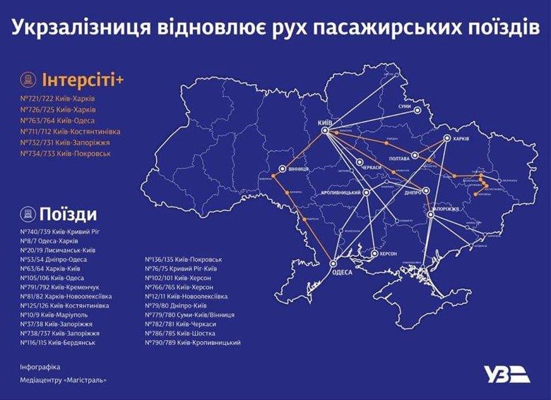 Українці можуть купити квиток на поїзд. Укрзалізниця сьогодні запускає 26 пасажирських потягів. Поки можна поїхати на північ, південь, схід і в центр країни.