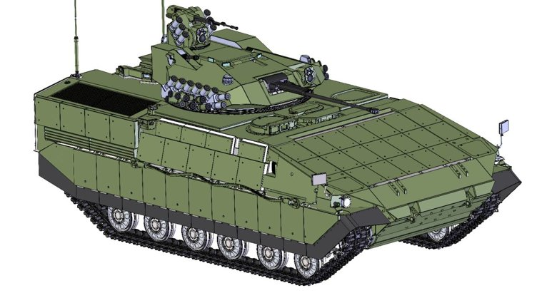 Базою для БМПВ послужила ходова частина танка Т-64, існує також варіант на ходовій танка Т-84