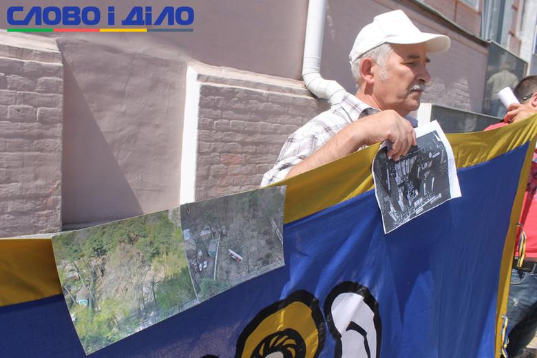 5 липня під ГУ Національної поліції Києва місцеві активісти провели акцію Припиніть будівельний терор.