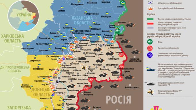 Ситуація на сході країни станом на 00:00 27 серпня 2016 року за даними РНБО України, прес-центру АТО, Міноборони, журналістів та волонтерів.