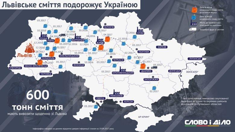 Львовский мусор продолжает вести кочевой образ жизни, посещая все новые и новые области и города Украины.