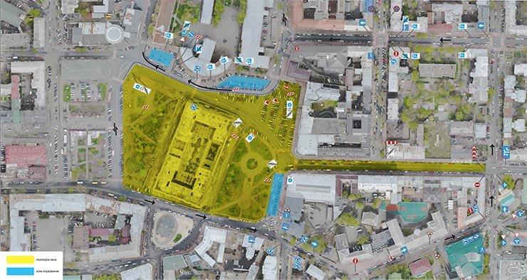 Контрактовая площадь и улица Сагайдачного станут единой пешеходной зоной в тестовом режиме.