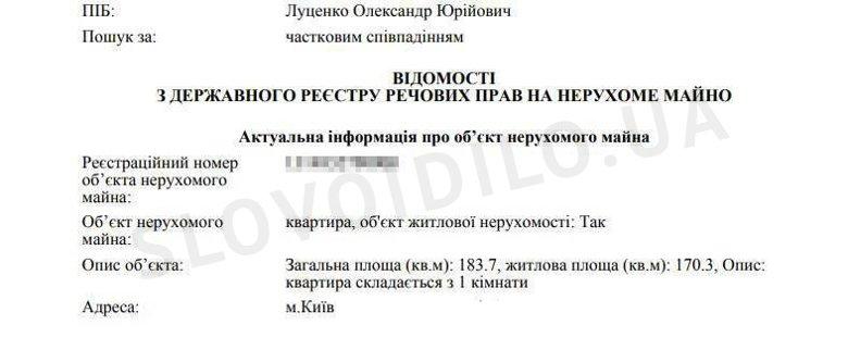 Журналісти Слова і Діла дізналися, яке житло перед весіллям придбав син генпрокурора Юрія Луценка.