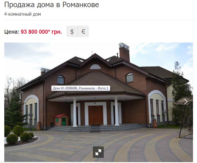 Депутат из фракции Радикальной партии Ляшко Сергей Рыбалка может владеть огромным домом под Киевом.