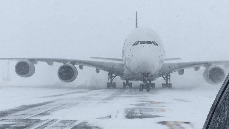Снежный шторм Грейс, который синоптики назвали циклоном-бомбой, не утихает в США. Пользователи в соцсетях пишут о закрытых аэропортах, школах, морозах и пальмах в снегу.