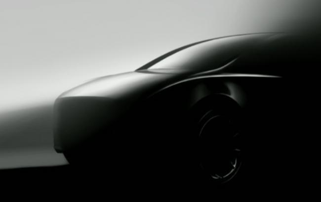 Маск показал тизерное изображения новой модели автомобиля Tesla— Model Y