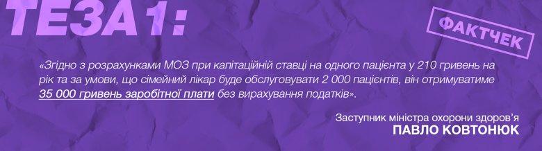 Зарплати лікарів первинної ланки при повному навантаженні ледве сягають 10 тисяч гривень замість обіцяних МОЗ 18 тисяч гривень