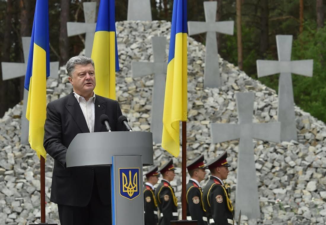 Президент України Петро Порошенко заявив, що під час масових репресій сталінського режиму загинули понад 100 000 українців