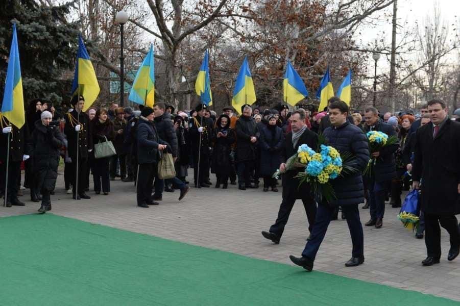 Дмитро Разумков взяв участь в урочистих заходах з нагоди Дня Соборності України в місті Херсон, де перебуває з робочою поїздкою.