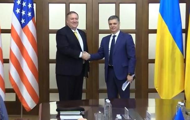 Министр иностранных дел Украины Вадим Пристайко встретился в Киеве с государственным секретарем США Майком Помпео.