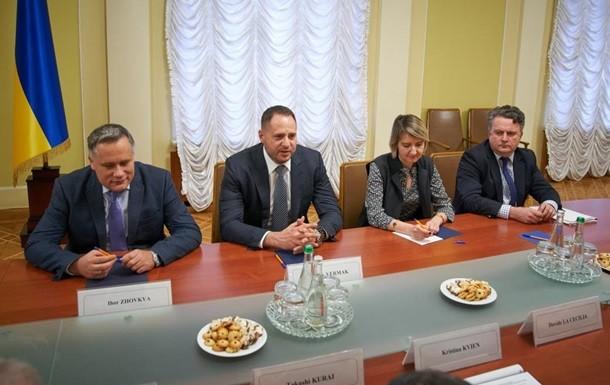 Новопризначений очільник Офісу президента Андрій Єрмак зустрівся із керівництвом посольств країн «Великої сімки».