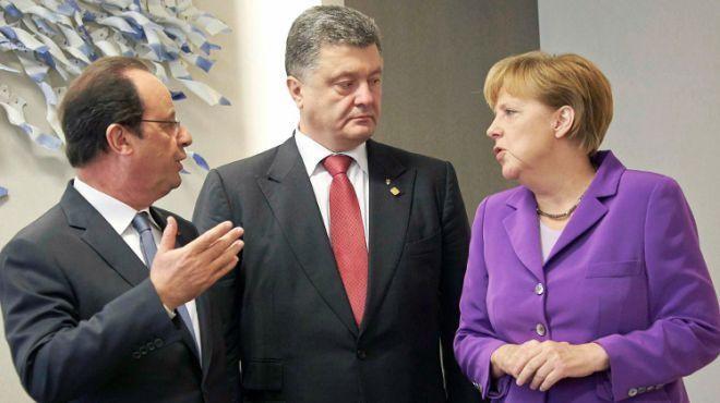 У ході зустрічі з канцлером Німеччини Ангелою Меркель і президентом Франції Франсуа Олландом Президент України Петро Порошенко ініціює переформатування «нормандської четвірки».