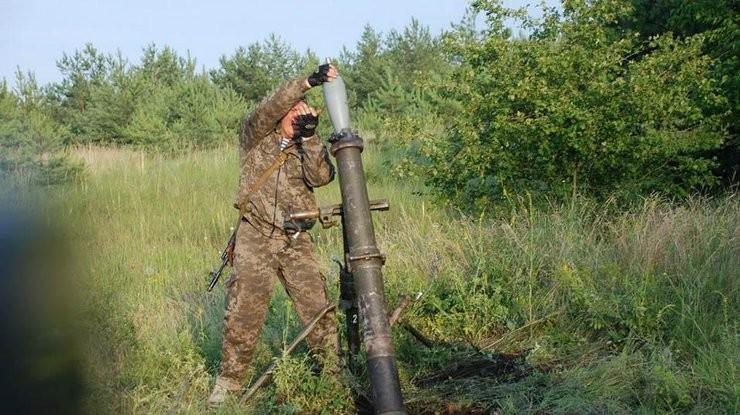 Протягом останньої доби проросійські бандформування обстріляли позиції Збройних сил України з міномету калібром 82 міліметри.