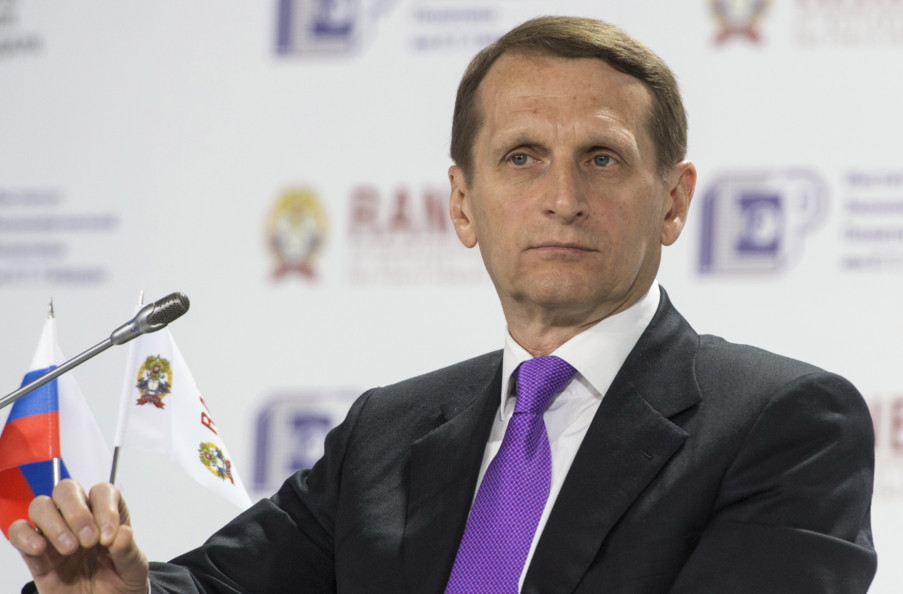 На засіданні Держдуми РФ Сергій Наришкін заявив, що Євросоюз має запровадити санкції проти України замість Росії.