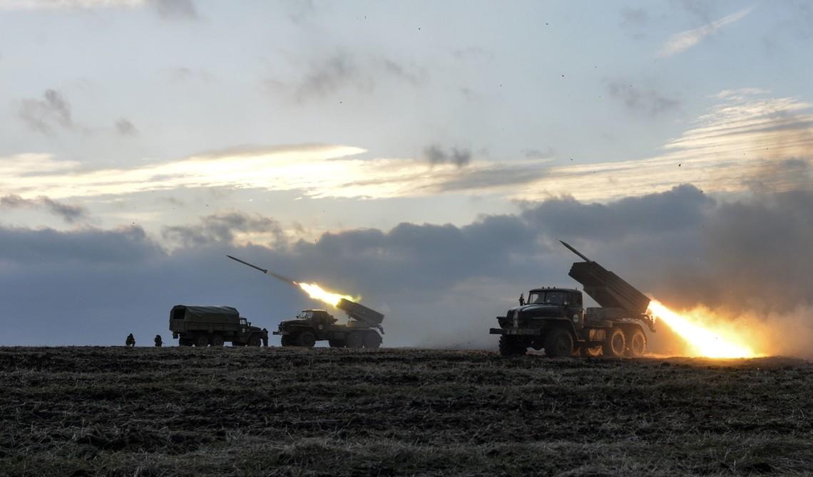 Ранок жителів Красногорівки почався з обстрілу бойовиків з реактивної системи залпового вогню Град.