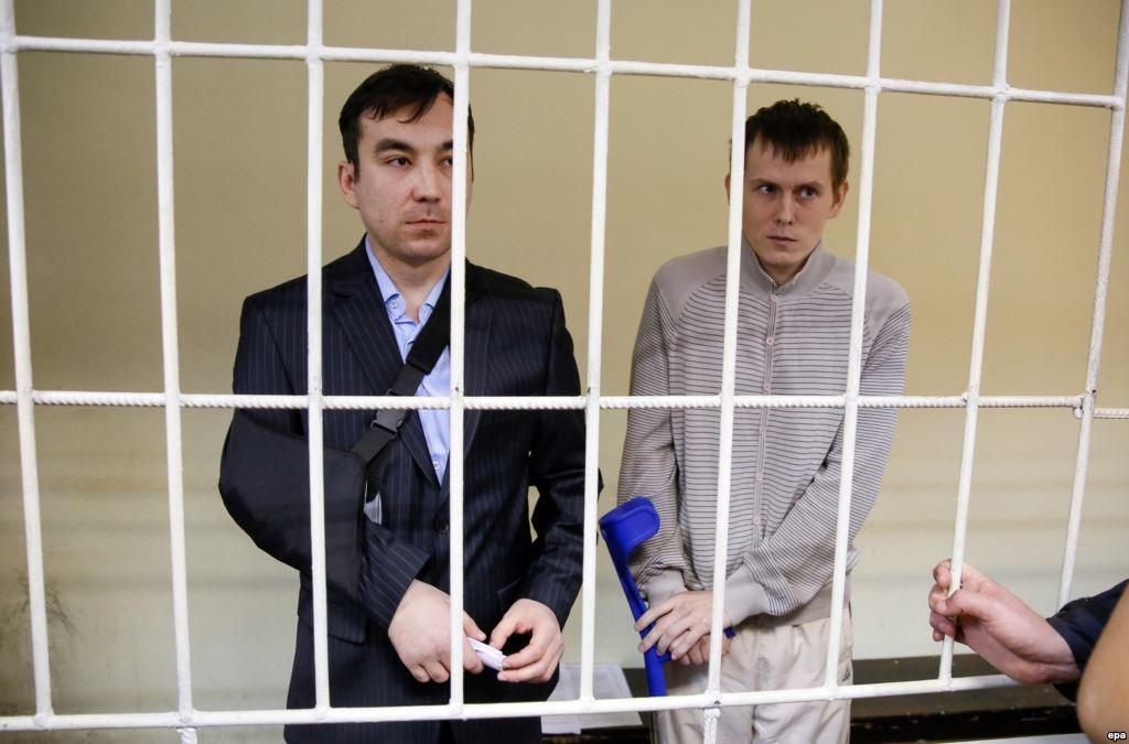 Голосіївський районний суд продовжив арешт двом російським спецназівцям ГРУ до середини травня.