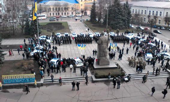 Сьогодні вранці в Житомирі склали присягу 229 поліцейських нової патрульної поліції, серед них 37 учасників бойових дій.