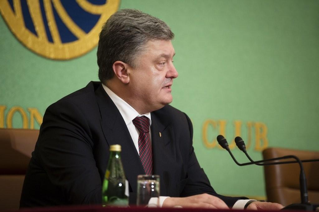Порошенко сподівається на відповідну реакцію збоку країн G7 та Японії через порушення Росією мирних домовленостей.