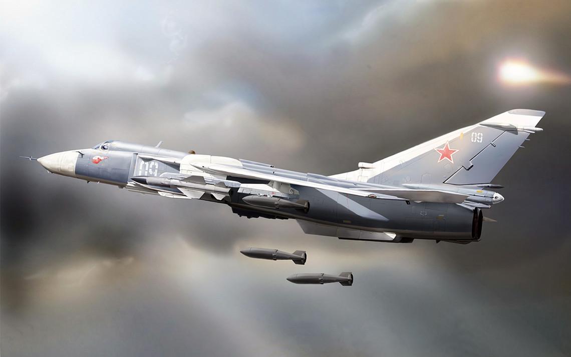 Із Центрального військового округу (ЦВО) Росії були перекинуті бомбардувальник Су-24 і два вертольоти Мі-8АМТШ Термінатор в окупований Крим.