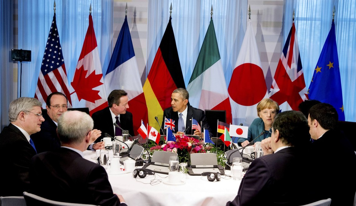 Країни великої сімки на саміті ухвалили рішення про продовження санкцій проти Російської Федерації.