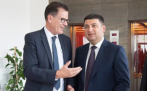 За словами Володимира Гройсмана, Німеччина реалізує в Україні проекти на загальну суму 600 млн євро.