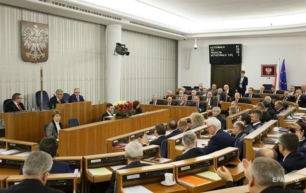Сенат Польщі ухвалив постанову про визнання Волинської трагедії геноцидом польського народу.