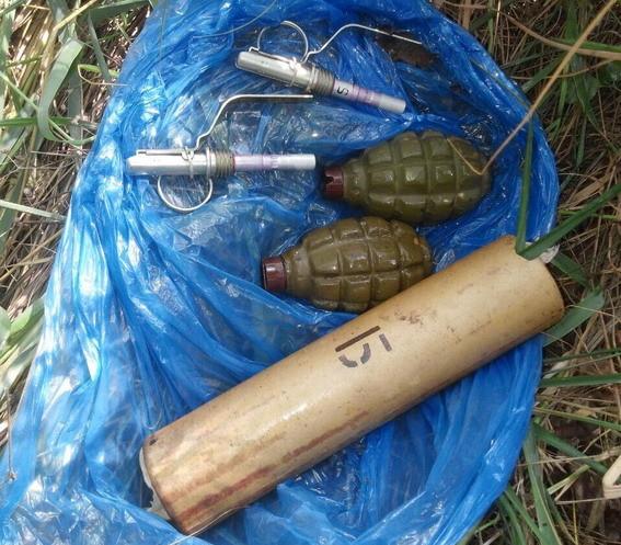 Нацполіція показала фотографії знайдених гранат, що були закладені на узбіччі київської дороги, де мала пройти хресна хода.