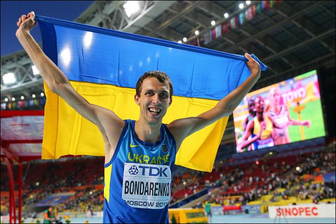 Український легкоатлет Богдан Бондаренко завоював бронзову медаль на Олімпіаді-2016 в Ріо-де-Жанейро. На першому місці канадець Дерек Дрюін.