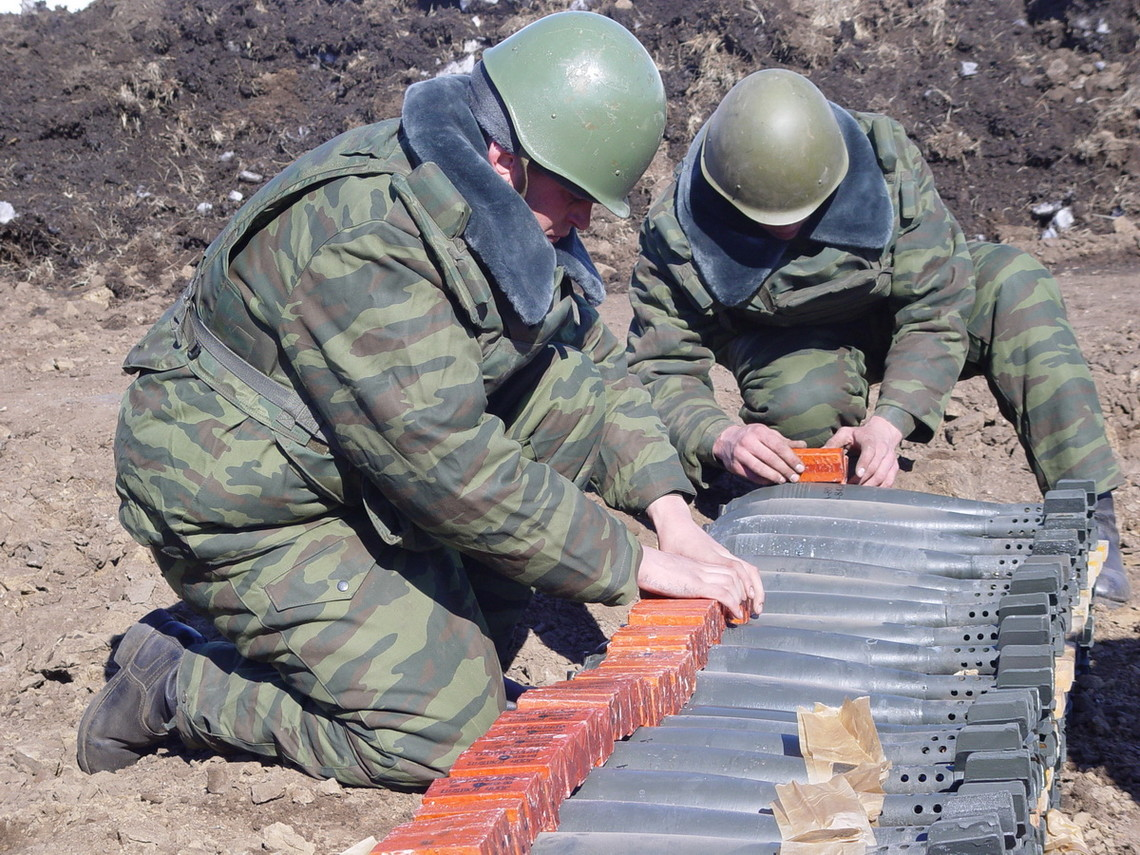 За підсумками 1 вересня під час самопідриву мінометної міни з партії непридатних боєприпасів, доставлених з Росії, отримали поранення двоє російських найманців.