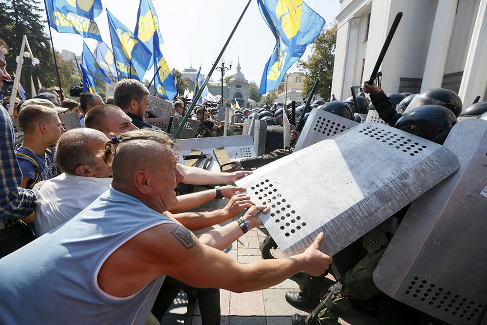 Сьогодні в Києві розпочався судовий процес в справі про зіткнення під Верховною Радою 31 серпня 2015 року.