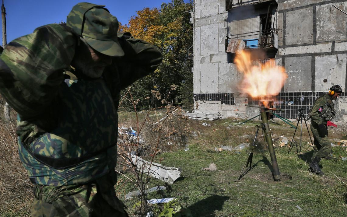 Члени незаконних збройних формувань продовжують порушувати Мінські угоди, застосовуючи великокаліберні міномети.