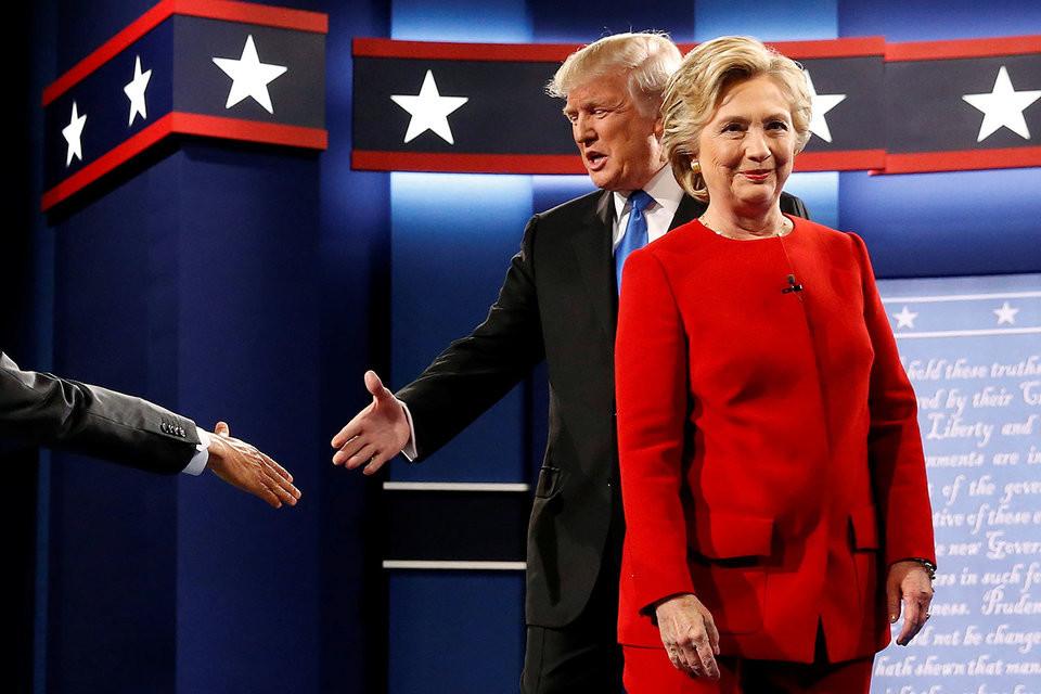 Клинтон одержала уверенную победу над Трампом по результатам первых теледебатов