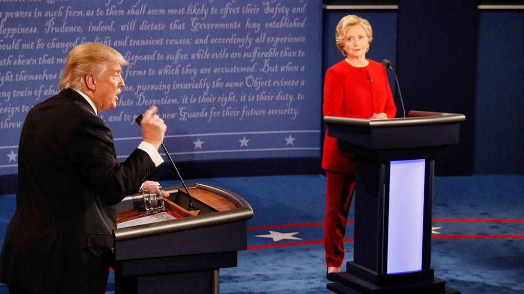Дебаты Клинтон иТрампа побили рекорд