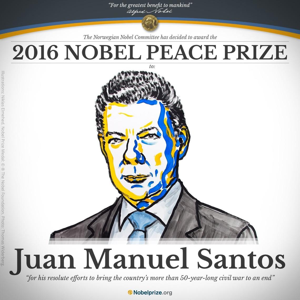 Нобелевскую премию мира присудили президенту Колумбии