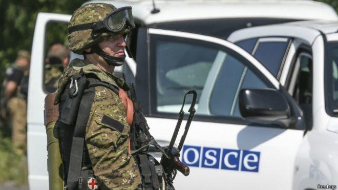 У звіті ОБСЄ від 7 жовтня заявлено, що Місія міжнародних спостерігачів не змогла продовжити роботу через погрози бойовиків.