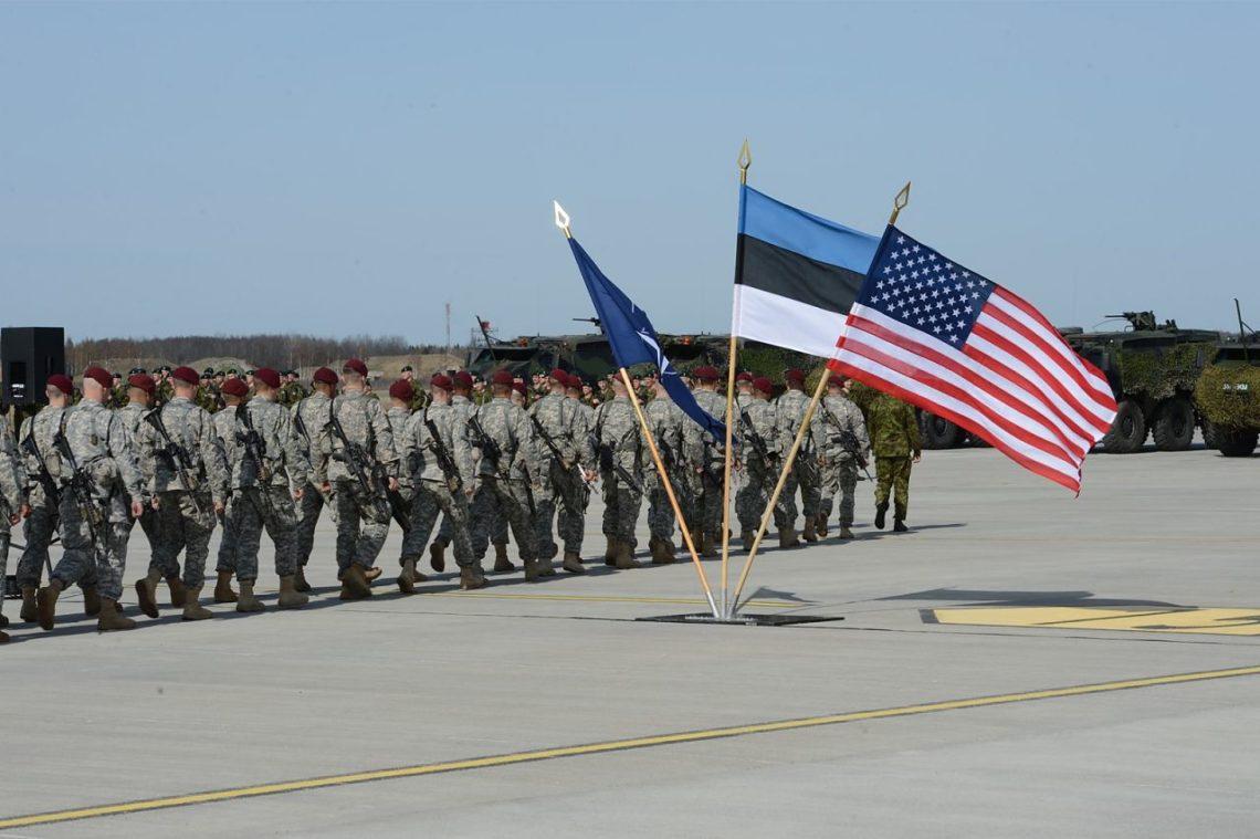ВЭстонии начались совместные самериканцами военные учения