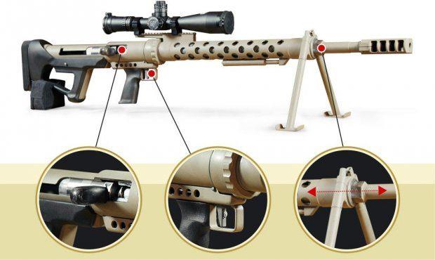 Видео Уникальную крупнокалиберную винтовку создали вХарькове