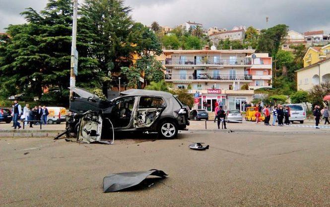 На главной дороге перед автобусной станцией в курортном городке Черногории произошел взрыв пострадал один человек