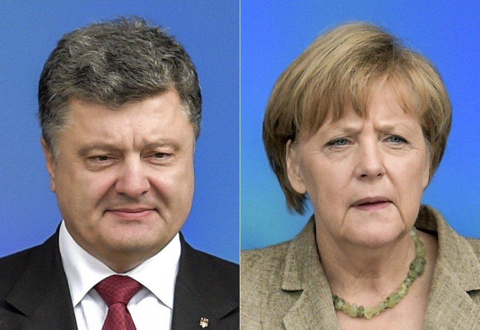 Меркель поведала Порошенко об результатах переговоров сПутиным