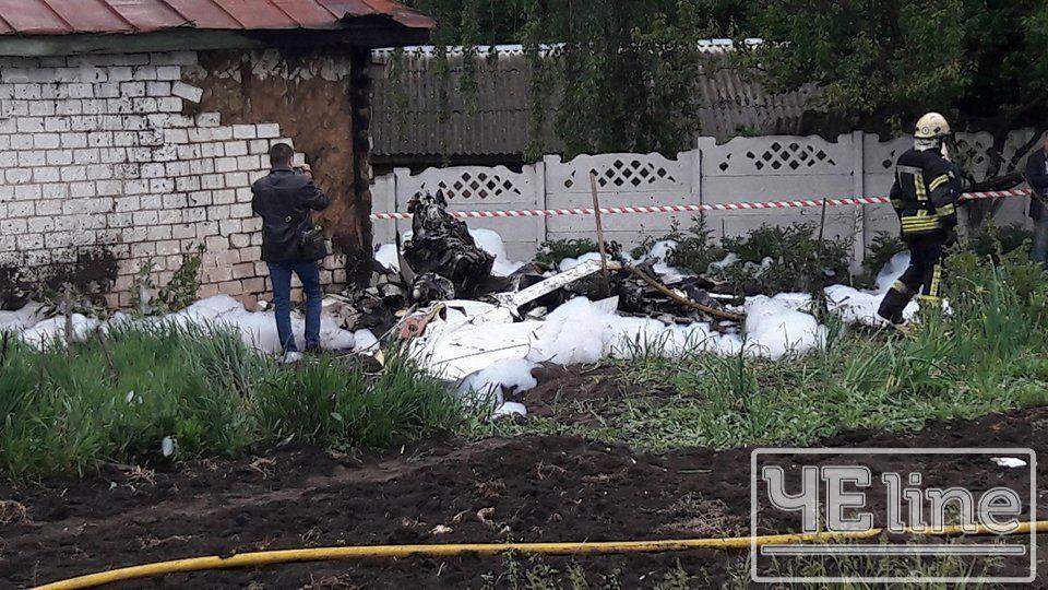 ВЧерниговской области на дом упал самолет