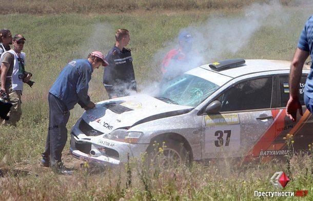 Начемпионате Украины помини-ралли зритель попал под колеса авто