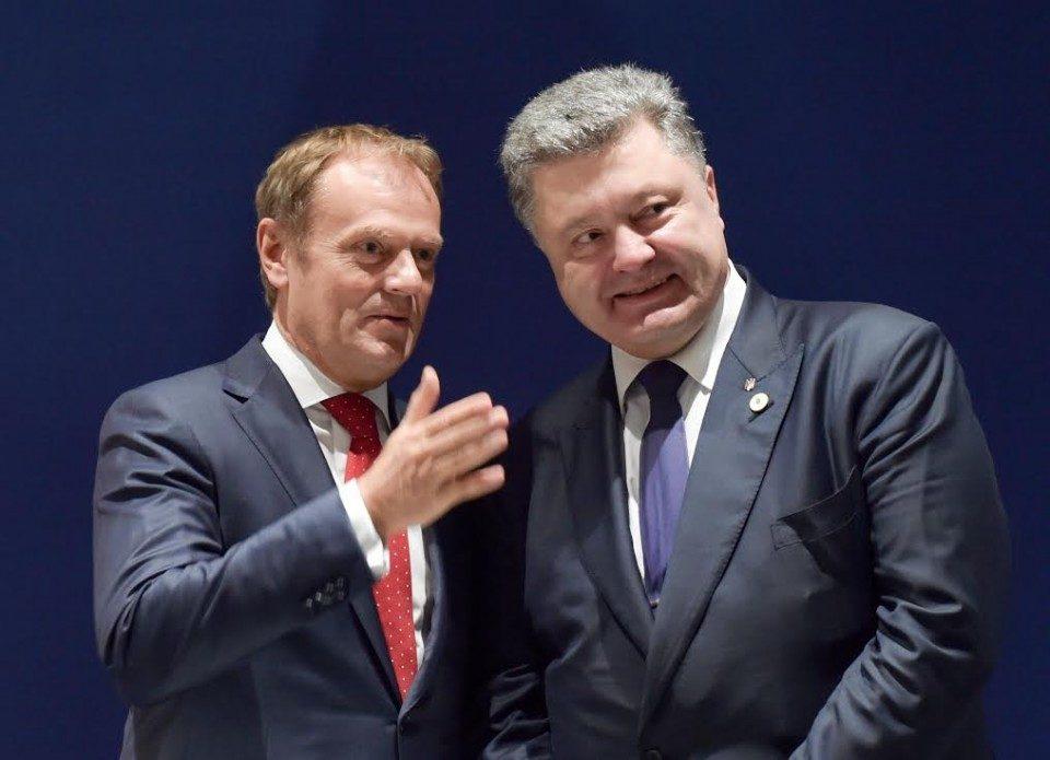 Украина берет насебя обязательства на100% выполнять все критерии перемен — Порошенко