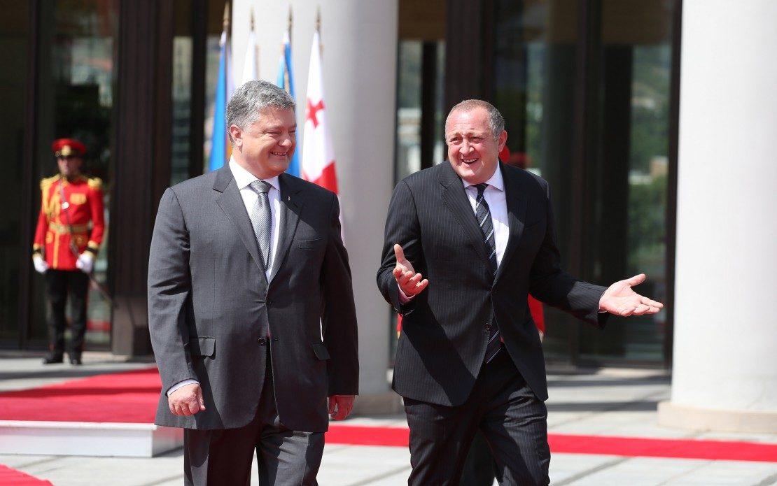 Порошенко: Украина иГрузия активизируют сотрудничество вГУАМ