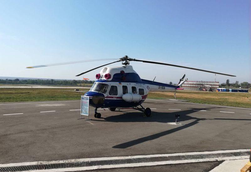 ВЗапорожье презентовали 1-ый украинский вертолет, есть фото