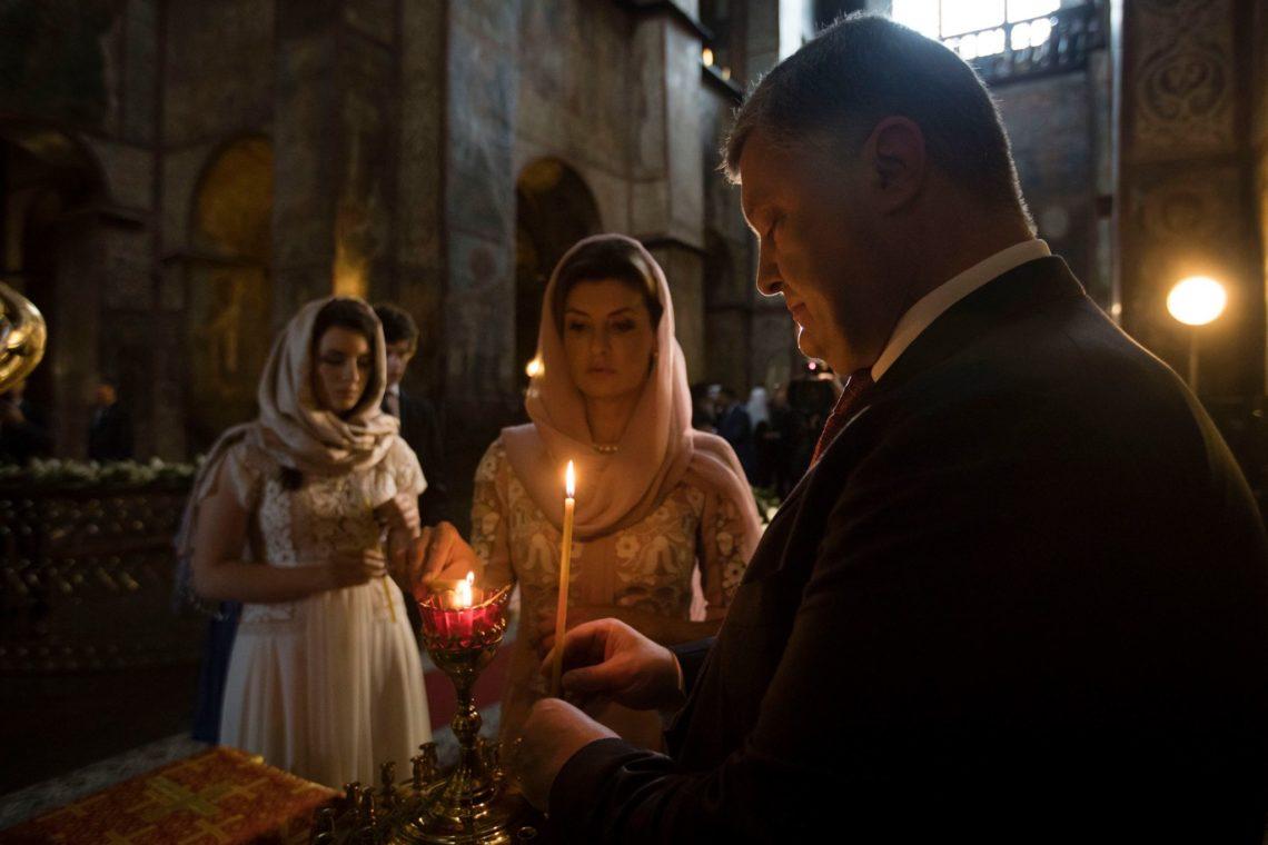 Порошенко принял участие в мольбе  за государство Украину