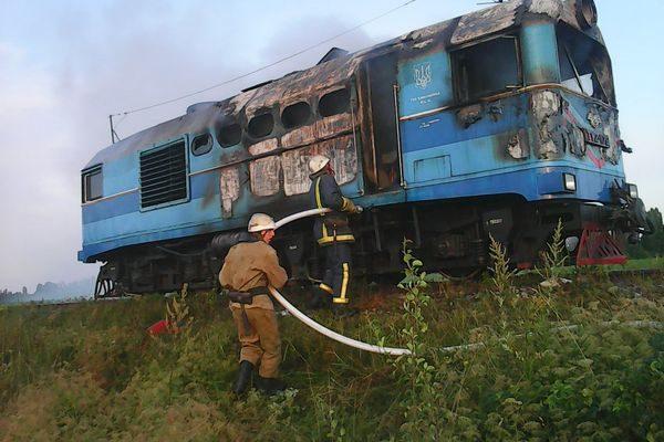 За пределами населенного пункта Яланец Винницкой области на 28 км сообщения Гайворон- Рудница в пригородном поезде возник пожар