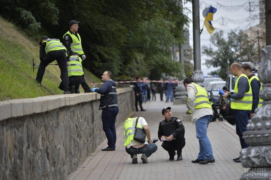 Следствие отрабатывает несколько версий взрыва вцентре украинской столицы 24августа