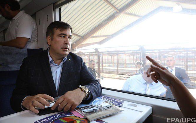 Поезд сСаакашвили невыпускают изПольши