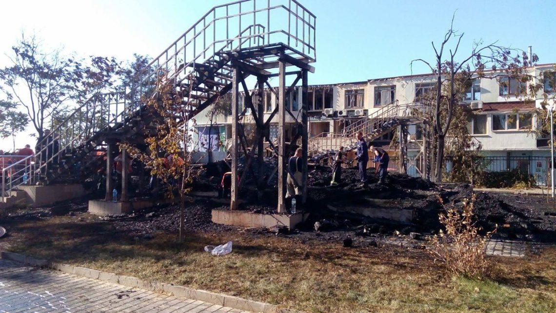 Пожар вОдессе: схвачен начальник детского лагеря «Виктория»