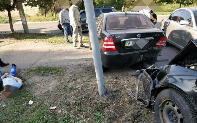 НаДонетчине полицейский-взяточник убегал отСБУ ипопал вДТП